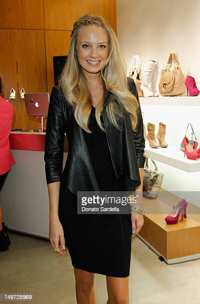 Actress Melissa Ordway attends the grand opening of luxury Brazilian brand Carmen Steffens' US Flagship store on August 2 2012 in Hollywood California