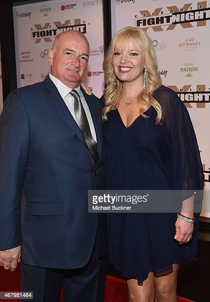 Actress Melissa Peterman and John Brady attend Muhammad Ali's Celebrity Fight Night XXI at the JW Marriott Phoenix Desert Ridge Resort Spa on March...