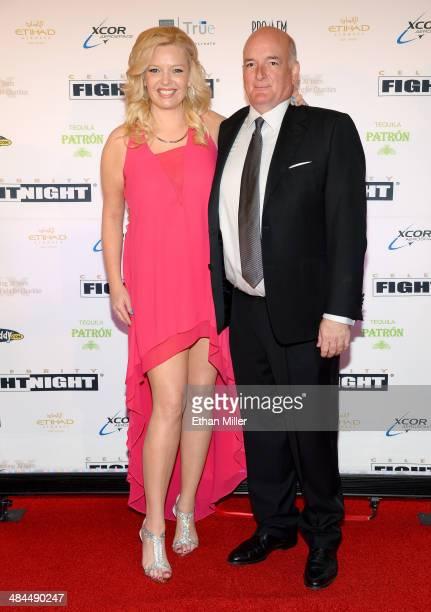 Actress Melissa Peterman and John Brady attend Muhammad Ali's Celebrity Fight Night XX held at the JW Marriott Desert Ridge Resort Spa on April 12...