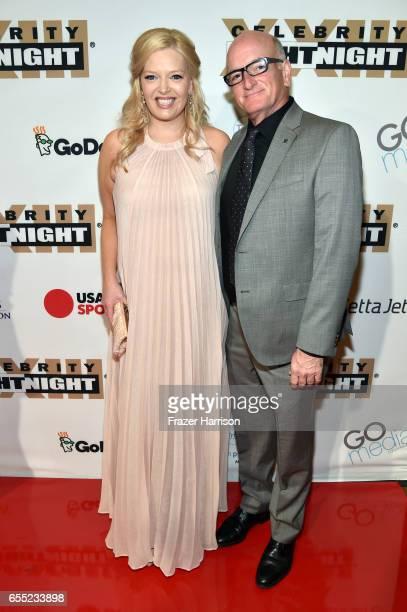 Actress Melissa Peterman and John Brady attend Muhammad Ali's Celebrity Fight Night XXIII at the JW Marriott Desert Ridge Resort Spa on March 18 2017...