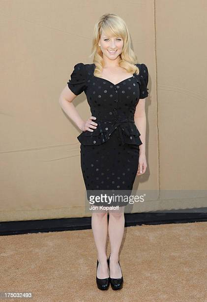 Actress Melissa Rauch arrives at the 2013 Television Critic Association's Summer Press Tour CBS The CW Showtime Party at The Beverly Hilton Hotel on...