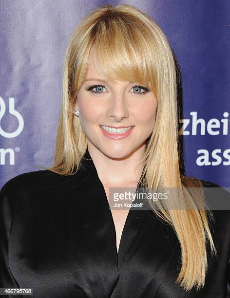 Actress Melissa Rauch arrives at the 23rd Annual A Night At Sardi's To Benefit The Alzheimer's Association at The Beverly Hilton Hotel on March 18...