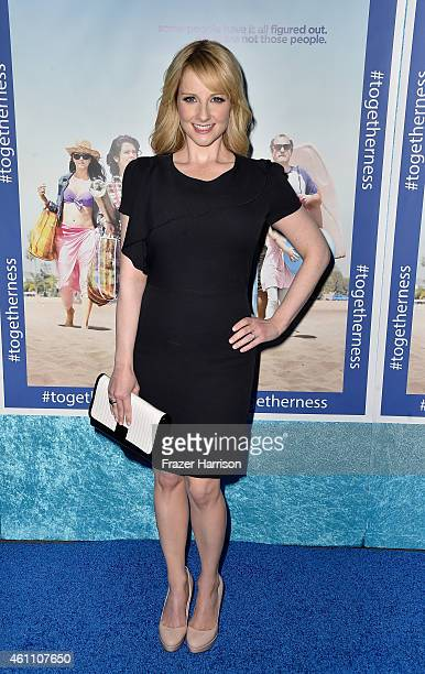 Actress Melissa Rauch arrives at the Premiere of HBO's 'Togetherness' at Avalon on January 6 2015 in Hollywood California