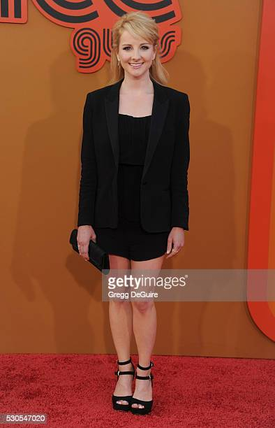Actress Melissa Rauch arrives at the premiere of Warner Bros Pictures' The Nice Guys at TCL Chinese Theatre on May 10 2016 in Hollywood California