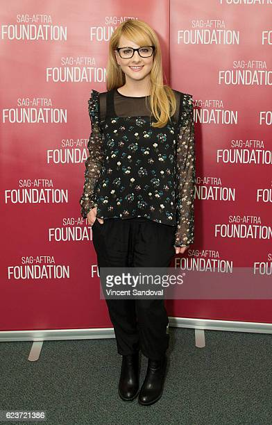 Actress Melissa Rauch attends SAGAFTRA Foundation's Conversations with 'The Bronze' at SAG Foundation Actors Center on November 16 2016 in Los...