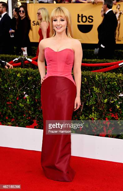 Actress Melissa Rauch attends the 21st Annual Screen Actors Guild Awards at The Shrine Auditorium on January 25 2015 in Los Angeles California