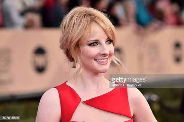 Actress Melissa Rauch attends the 22nd Annual Screen Actors Guild Awards at The Shrine Auditorium on January 30 2016 in Los Angeles California