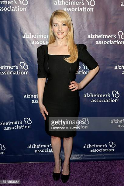 Actress Melissa Rauch attends the 24th and final 'A Night at Sardi's' to benefit the Alzheimer's Association at The Beverly Hilton Hotel on March 9...