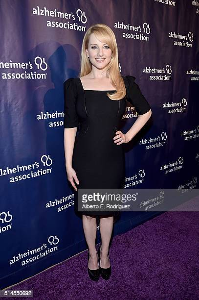Actress Melissa Rauch attends the 24th and final A Night at Sardi's to benefit the Alzheimer's Association at The Beverly Hilton Hotel on March 9...