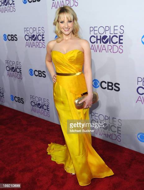 Actress Melissa Rauch attends the 39th Annual People's Choice Awards at Nokia Theatre LA Live on January 9 2013 in Los Angeles California