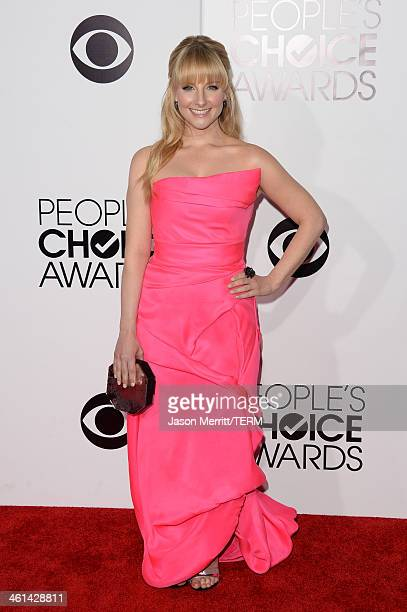 Actress Melissa Rauch attends The 40th Annual People's Choice Awards at Nokia Theatre LA Live on January 8 2014 in Los Angeles California