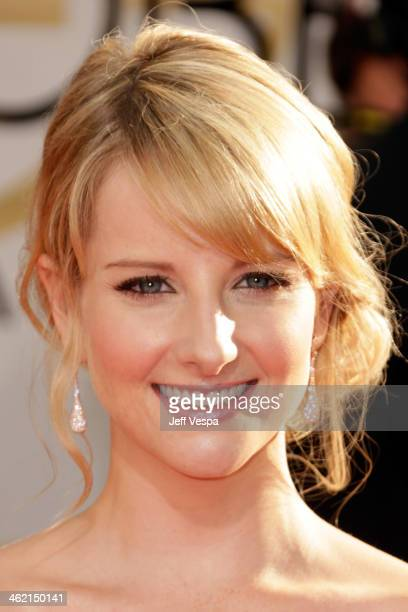 Actress Melissa Rauch attends the 71st Annual Golden Globe Awards held at The Beverly Hilton Hotel on January 12 2014 in Beverly Hills California