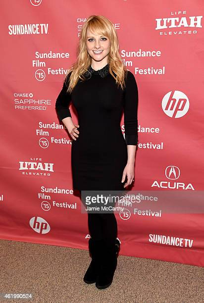Actress Melissa Rauch attends The Bronze Premiere at the Eccles Center Theatre during the 2015 Sundance Film Festival on January 22 2015 in Park City...