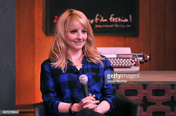Actress Melissa Rauch attends the Cinema Cafe during the 2015 Sundance Film Festival at Filmmaker Lodge on January 23 2015 in Park City Utah