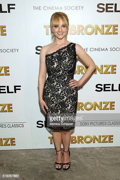 Actress Melissa Rauch attends The Cinema Society SELF host a screening of Sony Pictures Classics' 'The Bronze' at Metrograph on March 17 2016 in New...
