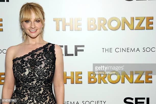 Actress Melissa Rauch attends The Cinema Society SELF host a screening of Sony Pictures Classics' The Bronze at Metrograph on March 17 2016 in New...