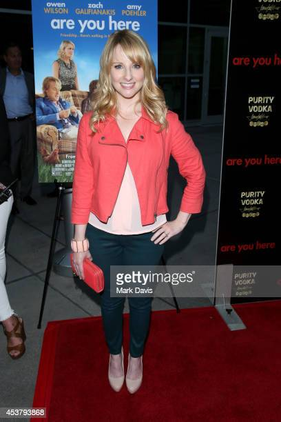 Actress Melissa Rauch attends the premiere of Are You Here at ArcLight Hollywood on August 18 2014 in Hollywood California