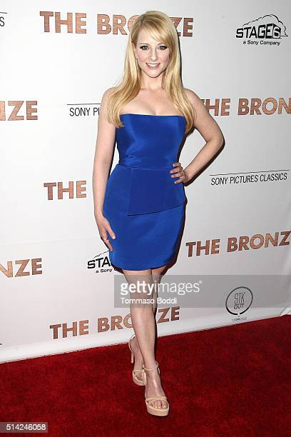 Actress Melissa Rauch attends the premiere of Sony Pictures Classics' The Bronze held at SilverScreen Theater at the Pacific Design Center on March 7...