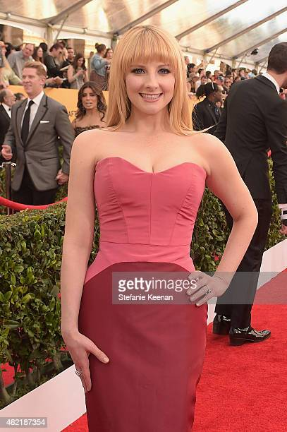 Actress Melissa Rauch attends TNT's 21st Annual Screen Actors Guild Awards at The Shrine Auditorium on January 25 2015 in Los Angeles California...
