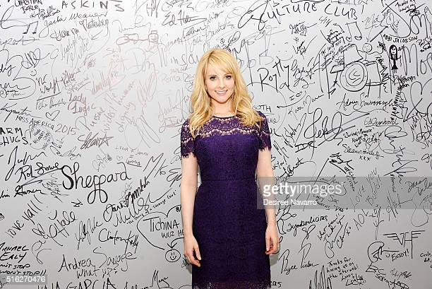Actress Melissa Rauch discusses the new film 'The Bronze' during AOL Build at AOL Studios In New York on March 17 2016 in New York City