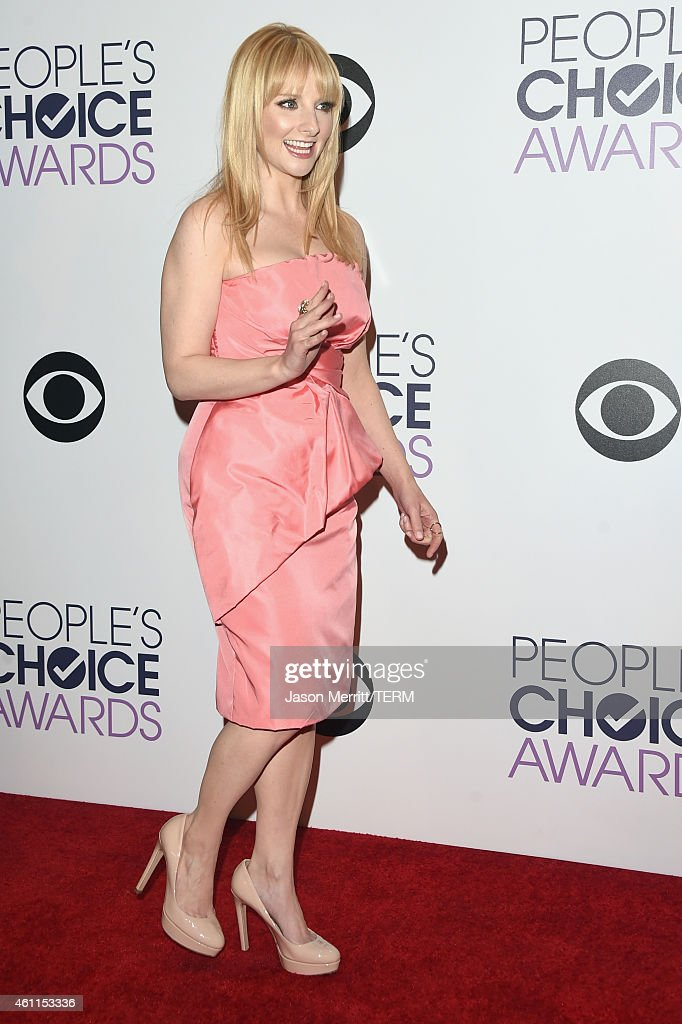 Actress Melissa Rauch poses in the press room at The 41st Annual People's Choice Awards at Nokia Theatre LA Live on January 7, 2015 in Los Angeles, California.