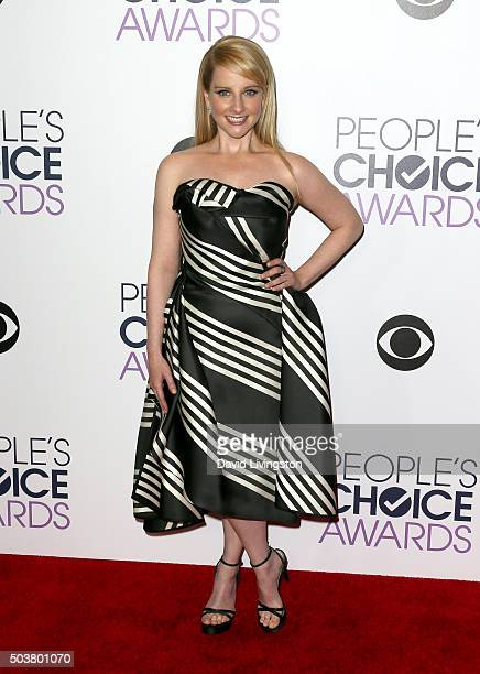 Actress Melissa Rauch poses in the press room during the People's Choice Awards 2016 at Microsoft Theater on January 6 2016 in Los Angeles California