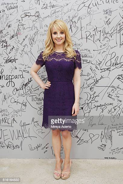 Actress Melissa Rauch visits AOL Studios in New York on March 17 2016 in New York City