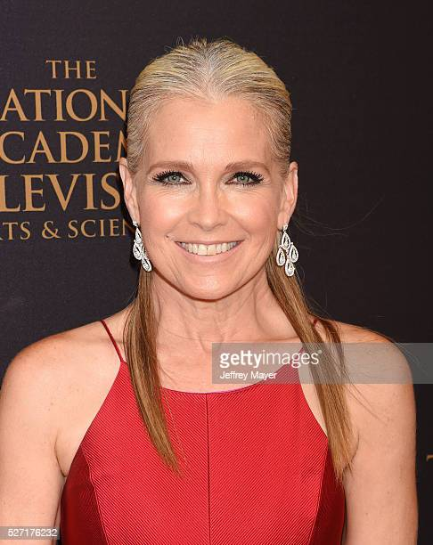 Actress Melissa Reeves attends the 2016 Daytime Emmy Awards Arrivals at Westin Bonaventure Hotel on May 1 2016 in Los Angeles California