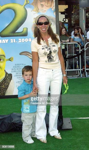 Actress Melissa Rivers and son Cooper attend the Los Angeles premiere of the Dreamworks Pictures' film Shrek 2 at the Mann Village Theatre May 8 2004...
