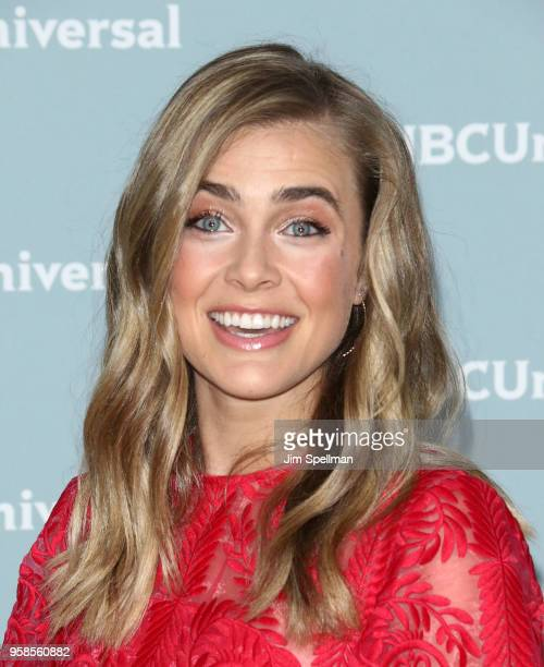 Actress Melissa Roxburgh attends the 2018 NBCUniversal Upfront presentation at Rockefeller Center on May 14 2018 in New York City