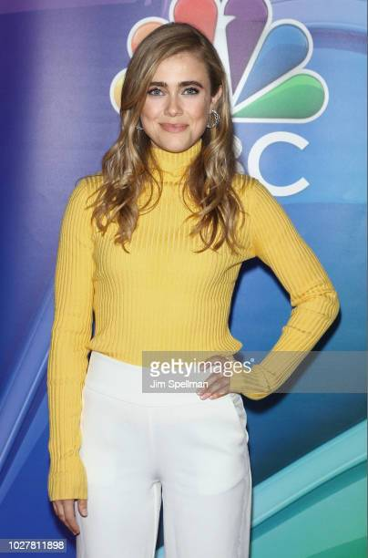 Actress Melissa Roxburgh attends the NBC Fall New York Junket at Four Seasons Hotel New York on September 6 2018 in New York City