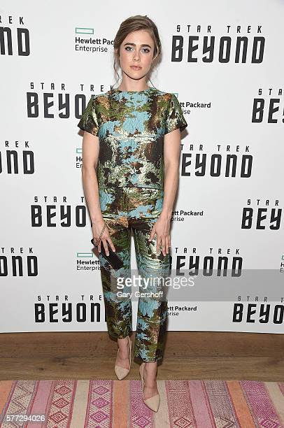 Actress Melissa Roxburgh attends the Star Trek Beyond New York premiere at Crosby Street Hotel on July 18 2016 in New York City