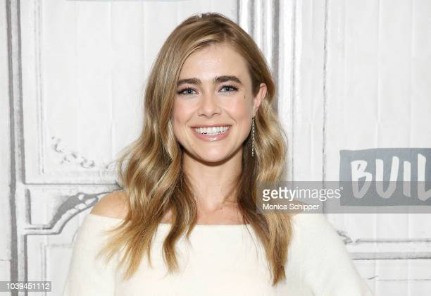 Actress Melissa Roxburgh visits Build Studio to discuss the TV series Manifest on September 24 2018 in New York City