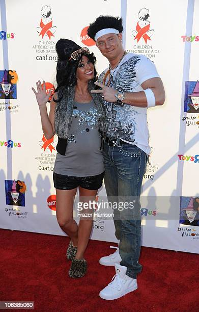 Actress Melissa Rycroft Tye Strickland arrives at the Children Affected By AIDS Foundation's 17th Annual Dream Halloween Event at Barker Hanger on...