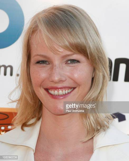 Actress Melissa Sage Miller arrives at the 6th annual HollyShorts film festival opening night celebration at Laemmle Sunset 5 Theatre on August 5,...
