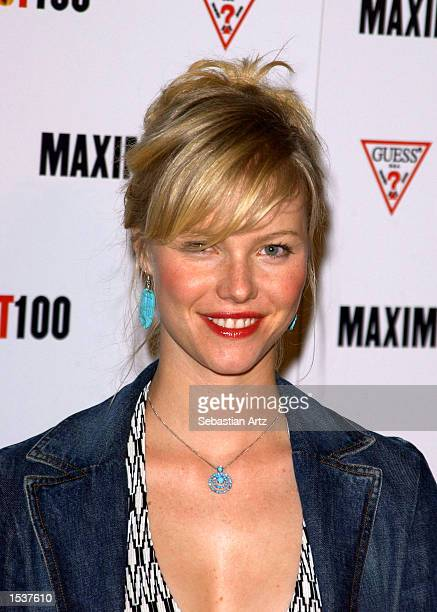 Actress Melissa Sagemiller arrives at Maxim's Hot100 party April 25 2002 in Los Angeles CA
