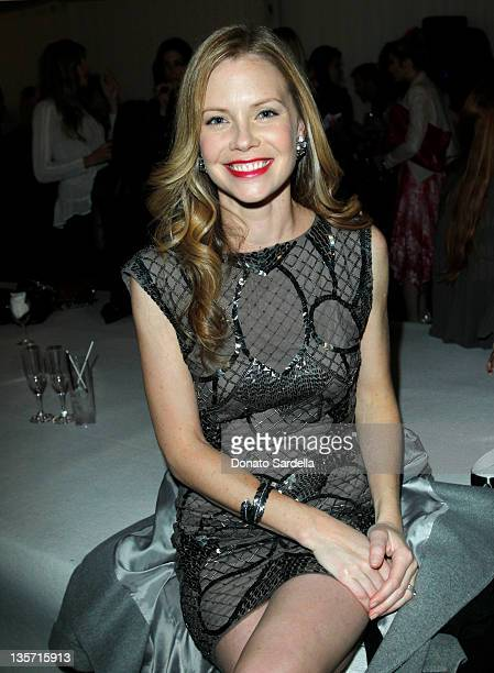 Actress Melissa Sagemiller attends the Alice + Olivia by Stacey Bendet holiday party for Baby Buggy at The London on December 12, 2011 in West...