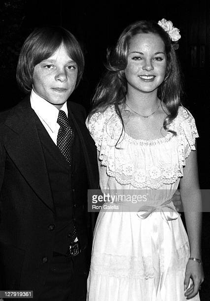 Actress Melissa Sue Anderson and actor Lance Kerwin attending NBC Affiliates Party on May 15 1977 at the Century Plaza Hotel in Century City...