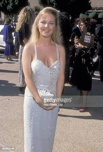 Actress Melissa Sue Anderson attends the 41st Annual Primetime Emmy Awards on September 17 1989 at Pasadena Civic Auditorium in Pasadena California
