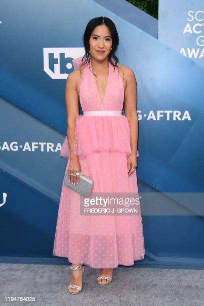 US actress Melissa Tang arrives for the 26th Annual Screen Actors Guild Awards at the Shrine Auditorium in Los Angeles on January 19 2020