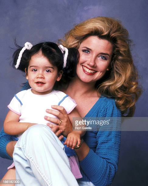 Actress Melody Thomas Scott and daughter Alexandra Scott pose for an Exlusive Photo Session on April 20 1984 in Los Angeles California