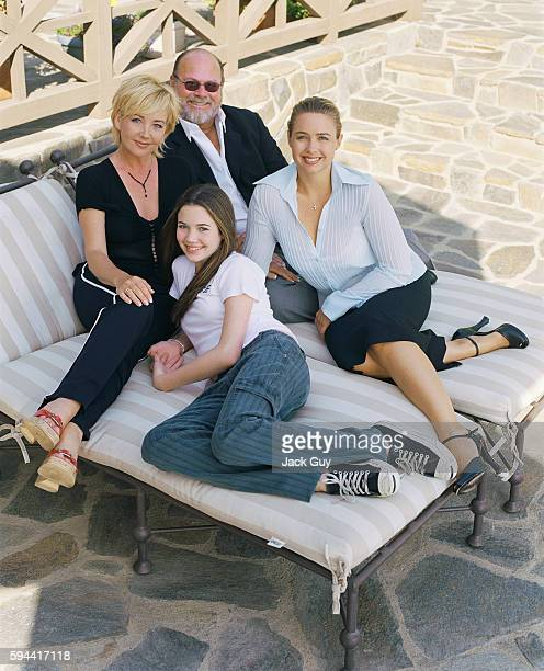 Actress Melody Thomas Scott is photographed with husband Edward and two daughters in 2003 at home in Los Angeles California