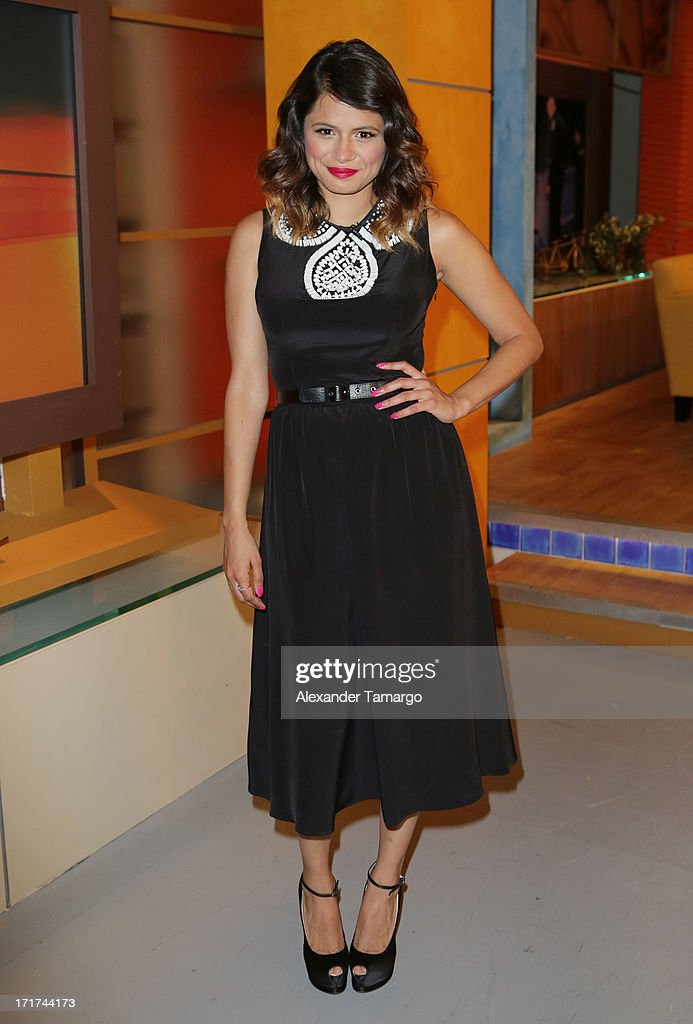Actress Melonie Diaz appears on Univision's 'Despierta America' morning show at Univision Headquarters on June 28, 2013 in Miami, Florida.