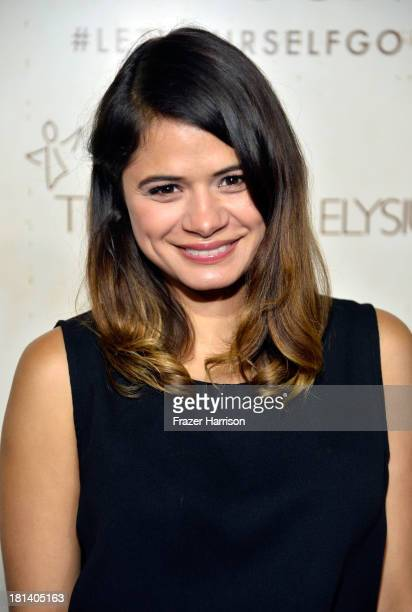 Actress Melonie Diaz arrives at Hudson Jeans Presents The Art of Elysium's Genesis Celebrating Emerging Artists at Siren Cube on September 20, 2013...