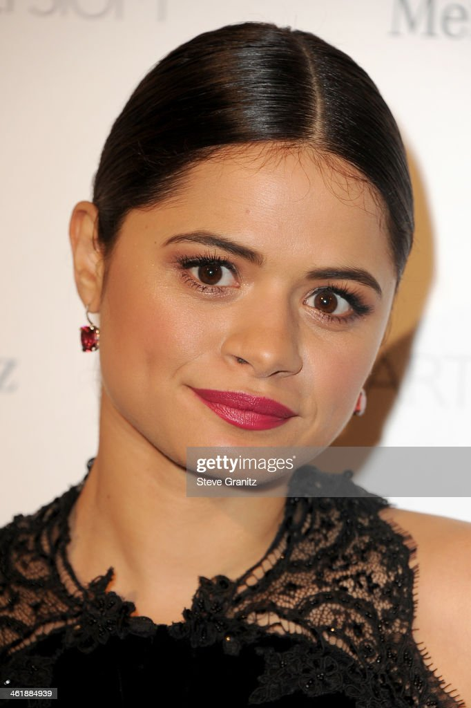 Actress Melonie Diaz arrives at The Art of Elysium's 7th Annual HEAVEN Gala presented by Mercedes-Benz at Skirball Cultural Center on January 11, 2014 in Los Angeles, California.