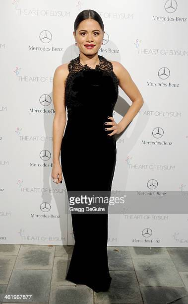Actress Melonie Diaz arrives at The Art of Elysium's 7th Annual HEAVEN Gala at the Guerin Pavilion at the Skirball Cultural Center on January 11 2014...