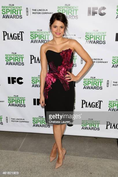 Actress Melonie Diaz attends the 2014 Film Independent Spirit Awards Nominee Brunch at BOA Steakhouse on January 11 2014 in West Hollywood California
