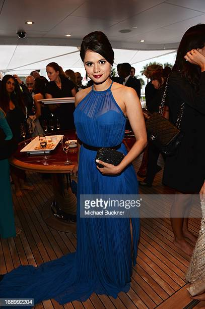 Actress Melonie Diaz attends the Fruitvale Station Cannes screening dinner held aboard the Harle Yacht on May 16 2013 in Cannes France