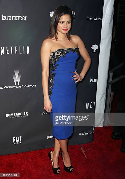Actress Melonie Diaz attends The Weinstein Company Netflix's 2014 Golden Globes After Party presented by Bombardier FIJI Water Lexus Laura Mercier...
