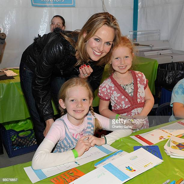 Actress Melora Hardin and daughters Piper and Rory attend PS Arts Express Yourself 2009 at Barker Hangar at the Santa Monica Airport on November 15...
